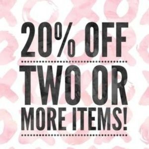 Put 2 items in a bundle, get auto 20% OFF!